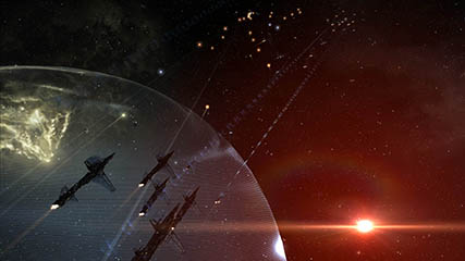 EvE Online: Coalition Fleet Destroys Raiden POS Defenses