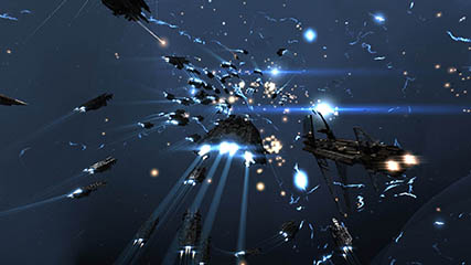 EvE Online: Coalition fleet returns fire after being caught in a bubble by Raiden surpise attack.