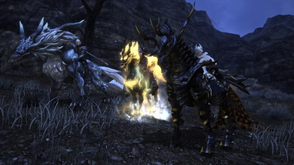 Final Fantasy XIV: M.Steiner, Isileth and Anubis show off our mounts