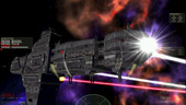 Freespace: Cruiser Firing Beam Cannons