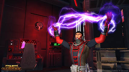 The Old Republic: Sith Inquisitor Wields Force Lightning