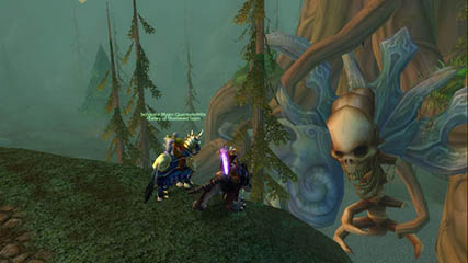 World of Warcraft EU: QD & MS infront of the World Tree in Hyjal
